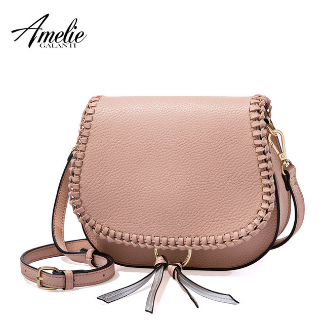 AMELIE GALANTI Women Shoulder Bag with Tassel Small Flap Crossbody Bag with Weave Classical Design Top-Handle Bags