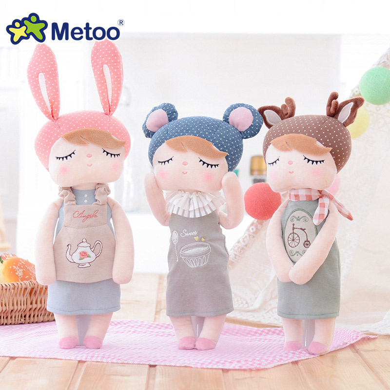 Hot Sale Metoo Doll Angela Rabbit Girl Kawaii Plush Stuffed Animal Cartoon Kids Toys for Girls Children Baby Birthday MT101038 набор бит bosch robust line m extra hart 2607002563