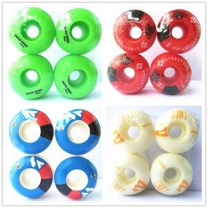 Image 1 - 4pcs/Set Quality skateboarding wheels with Graphics Wheels Rodas de Skate Professional Plastic 50/52/54/56mm Skateboard Wheels