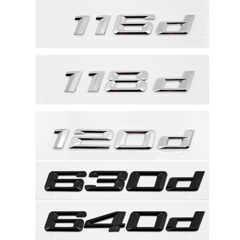 For BMW E46 F30 Z4 M3 M5 X1 X6 116d 118d 120d 125d 130d 135d 630d 640d Plastic Car Trunk Badge Rear Tail DIY Sticker Accessories image