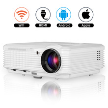 CAIWEI LCD Android WiFi Projector Home Theater LED Proyector HD Video Movies Game Wireless Sync HDMI VGA USB Smartphone PC
