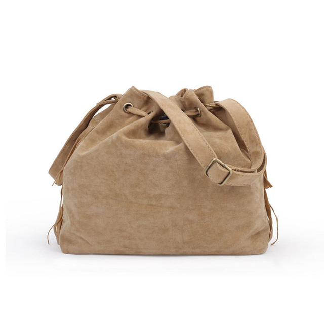 Boho Faux Suede Tassel Bag