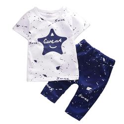 1 2 3 4 Year Boys Clothes 2018 New Cotton Casual Kids Outfits Star Shirts Stripe Pants 2pcs Baby Children Clothing Set