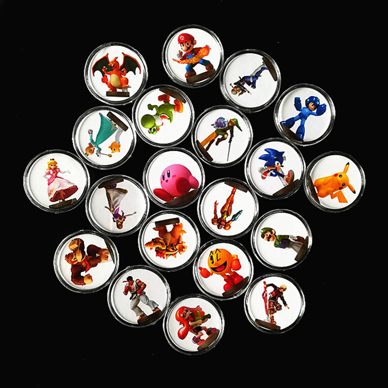 Free Shiping 20Pcs/set Super Smash Bros For Amiibo Card Mario Ntag215 Printed Sticked Collection Coin NFC Tag NS Switch Wiiu(China)