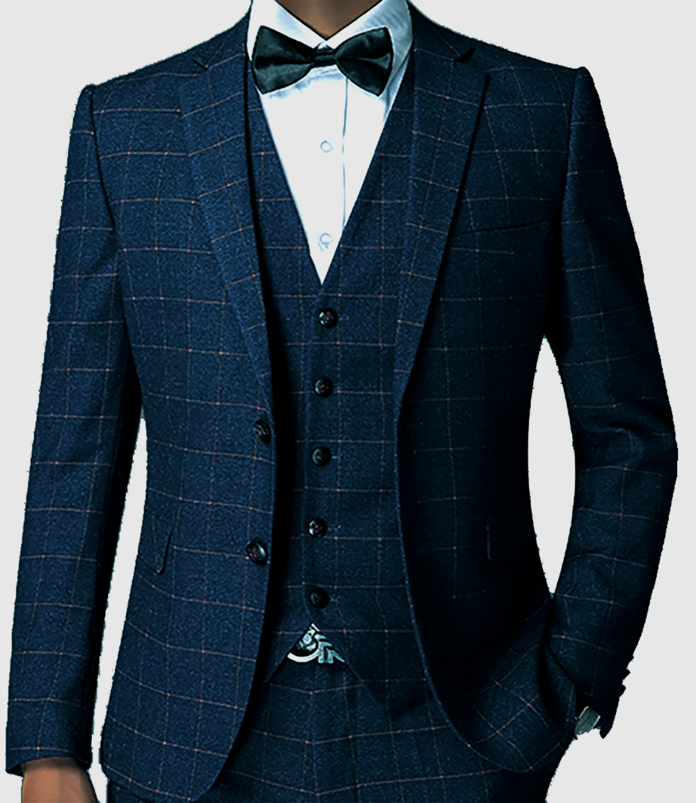 Popular Men Blue Suit Checkered-Buy Cheap Men Blue Suit Checkered