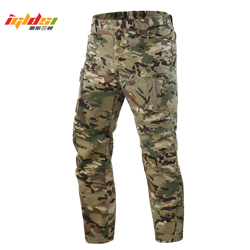 IX9 Men Tactical Pants Multi Pockets Cargo Pants Autumn Military Combat Pants Casual Cotton Trousers SWAT Baggy Trousers S-5XL(China)