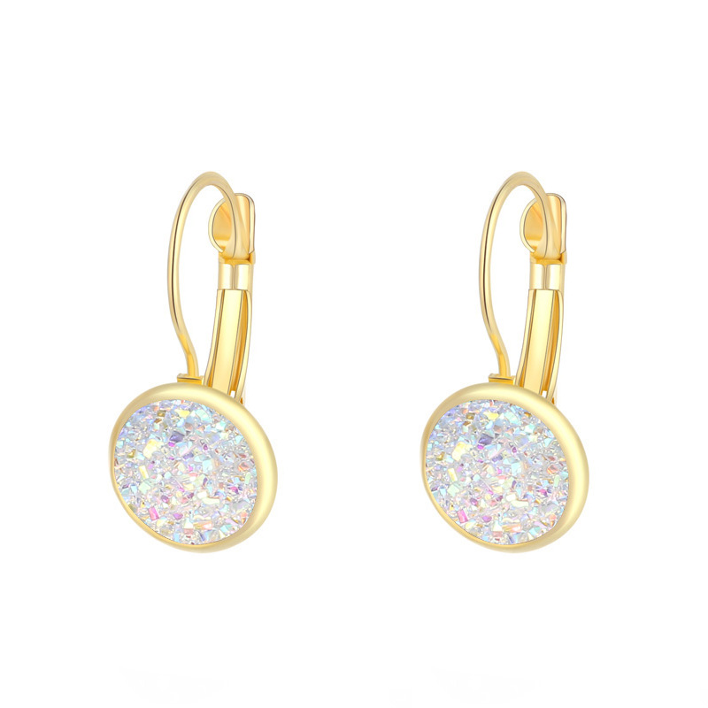 HTB10378aQT2gK0jSZFkq6AIQFXaT - ZHOUYANG Earrings For Women Handmade Multicolored Resin Clusters Romantic Imitation Stone Earrngs Jewelry KAE011