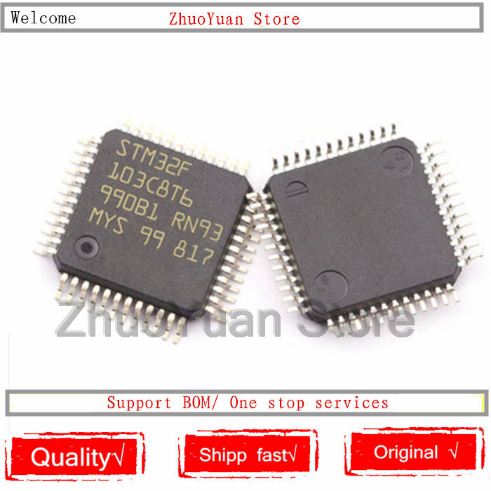 1PCS lot STM32F103C8T6 STM32 F103C8T6 LQFP-48 64K New original IC chip
