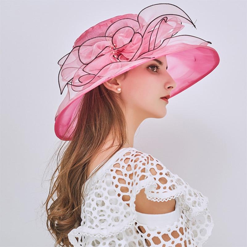 [AETRENDS] 2018 New Vintage Floral Sun Topi untuk Wanita Musim Panas - Aksesori pakaian - Foto 6