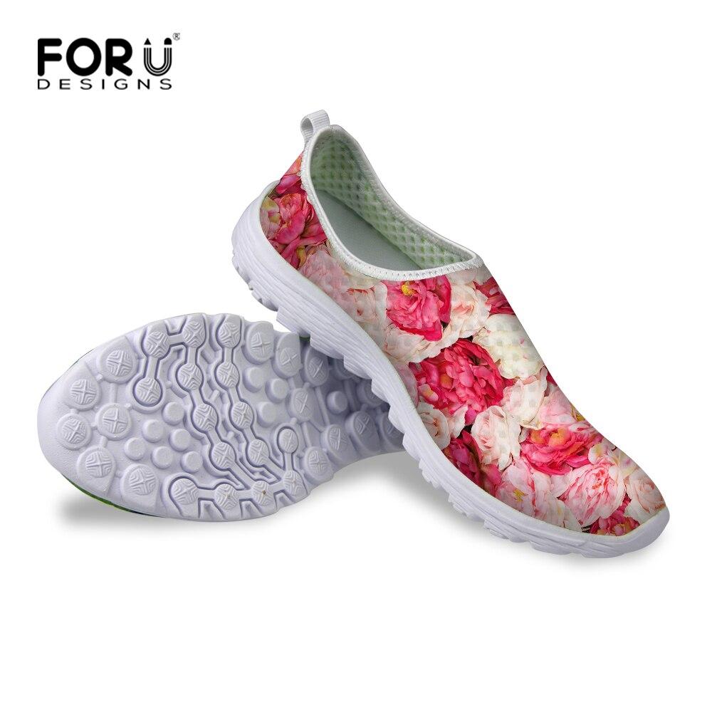 4a13bada63606 Mujeres ocasionales Zapatos Vintage Zapatos de Malla Transpirable de Malla  para Damas Niñas Clásico Girasol Impresión Playa de Agua