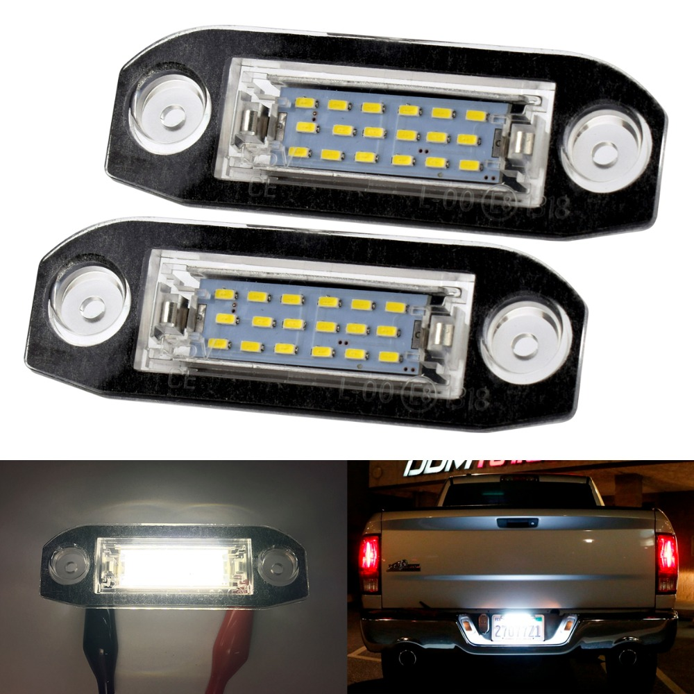 2xCar LED Number License Plate Light 12V White LED lamp Car Styling For Volvo S80 XC90 S40 V60 XC60 S60 V70 C70 Car accessories