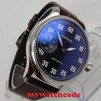 44mm parnis 블랙 다이얼 6497 무브먼트 핸드 와인딩 기계식 남성 시계 p808