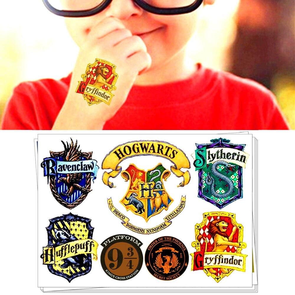 Hogwarts 4 Houses Signet - Children Temporary Tattoo Sticker Cartoon Tatoo Body Art Novelty Gag Toys Waterproof 2-3 Days