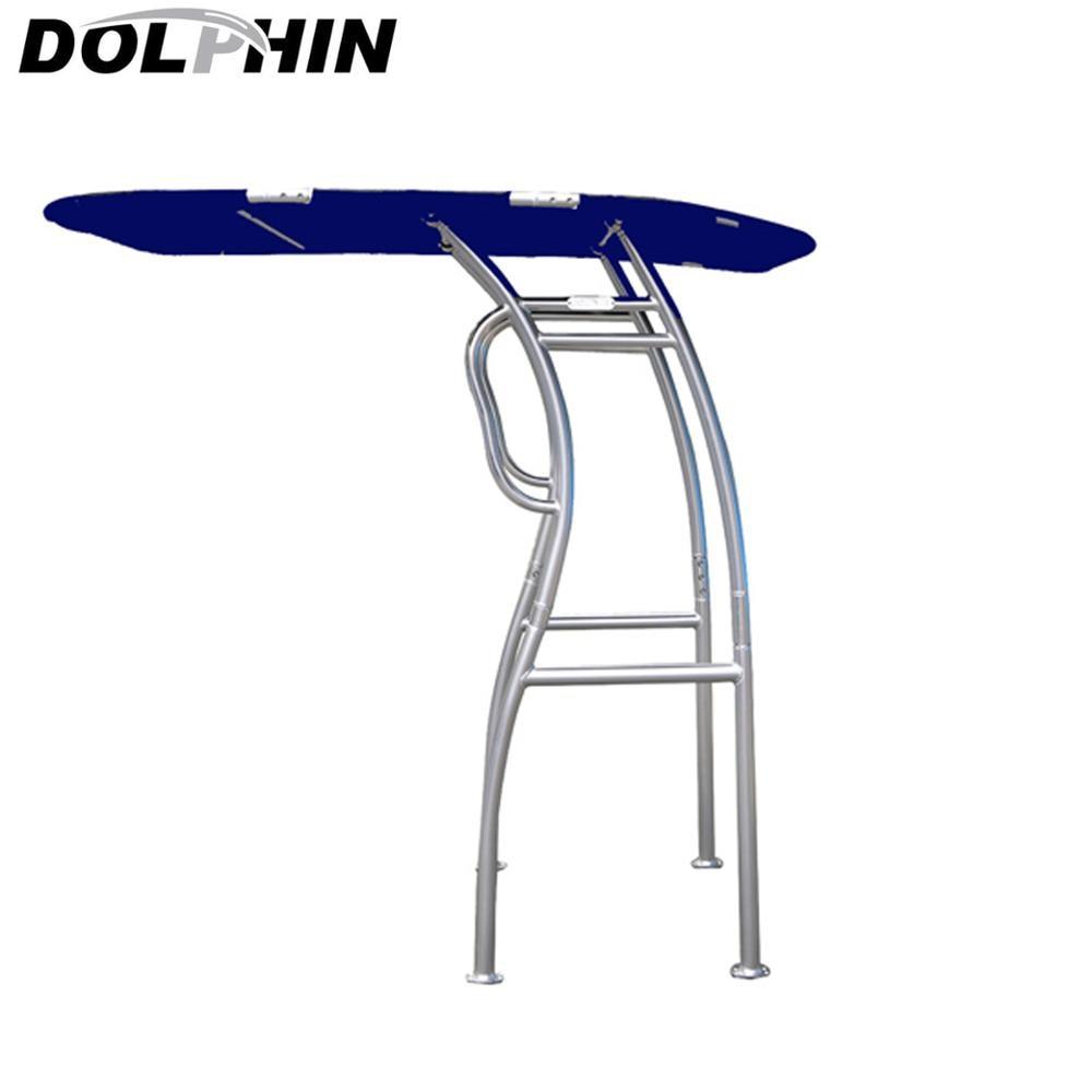 Dolphin Pro2 Boat T-TOP Aluminium Tube W/ Navy Blue Canopy