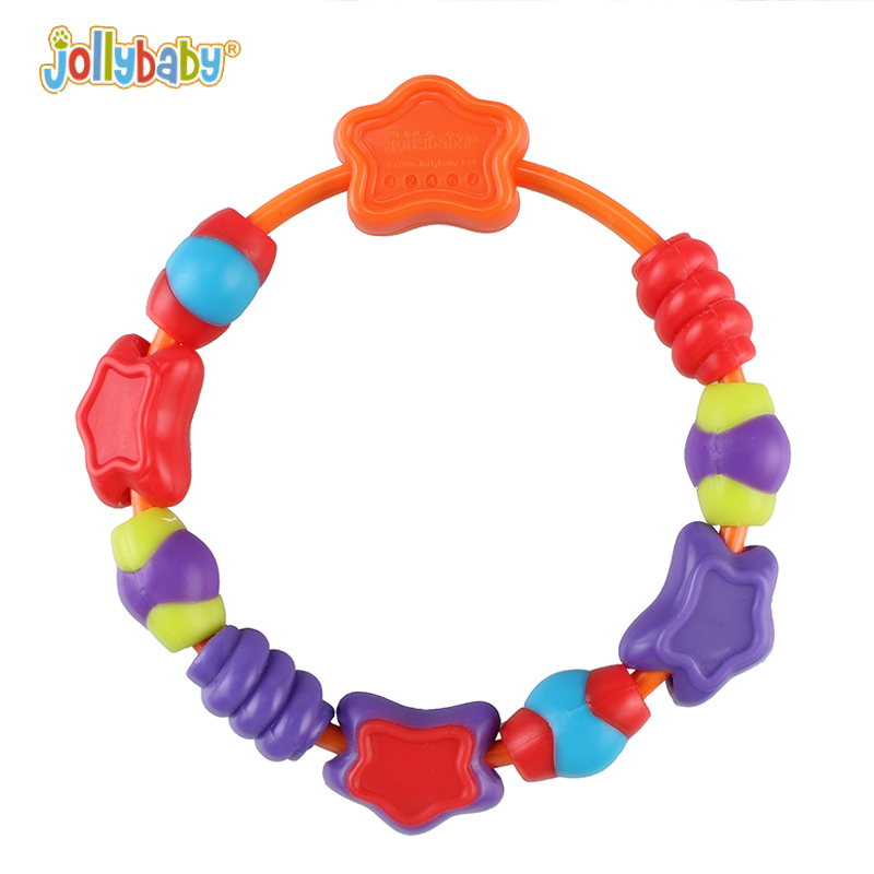 Jollybaby BPA Free Baby Bracelet Teether Infant Molar Circles Safety Tooth Training Grasping Toys Baby Dental Care