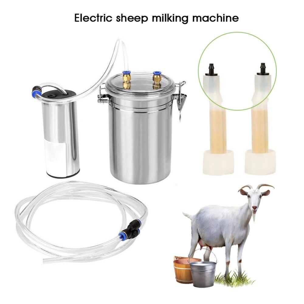 2L Capacity Electric Milking Machine Sheep Goat Cow Ewe Milker Pump Steel