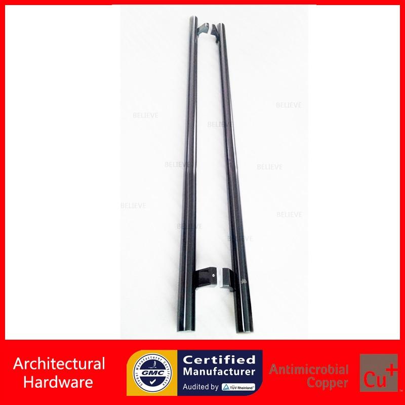 Black Steel Plated Stainless Steel Pull Handles Entrance Door Handle For Metal/Glass/Wooden Doors PA-104