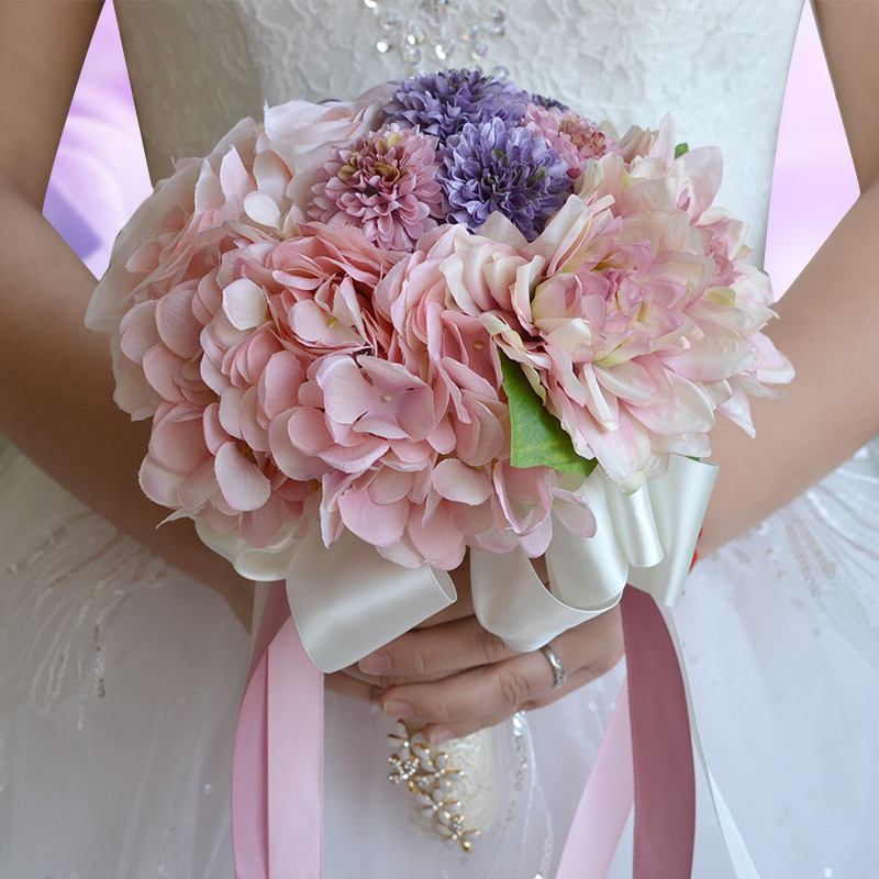 2017 new SSYFashion bride holding bouquet wedding bouquets ...