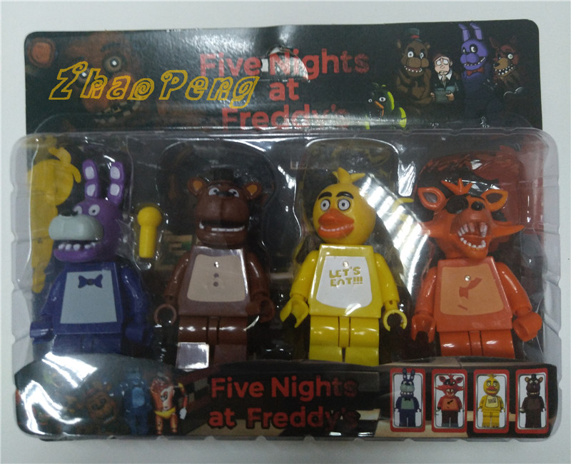 4pcs/lot 4-5inch Five Night At Freddy's juguetes Figures Foxy Freddy Chica Action Figures brinquedos kids toys 12pcs set children kids toys gift mini figures toys little pet animal cat dog lps action figures