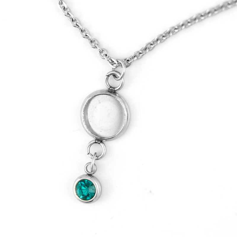 Simsimi Mix Styles Birth Stones Charm Choker Lucky Stone For Women Female Jewelry Stainless Steel Origin Fashion Necklaces Gift Online Discount Jewellery & Watches