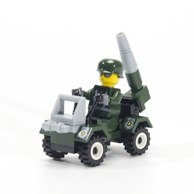 City Military Arms Tank Jeep Building Blocks Assembly Bricks