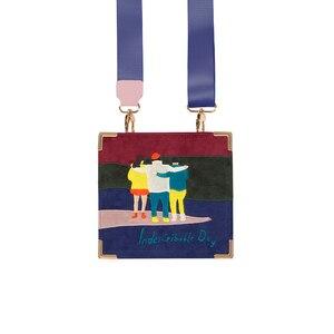 Image 4 - YIZISTORE Bolsos de mensajero retro con bordado de fieltro para mujer, de cuero PU vintage, para un día, Serie 2, 2018[FUN KIK]