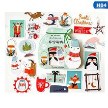 24/40pcs /set Diy Merry Christmas Paper Kawaii Diary Planner Decorative Stickers Scrapbooking Craft Stationery Stickers(China)