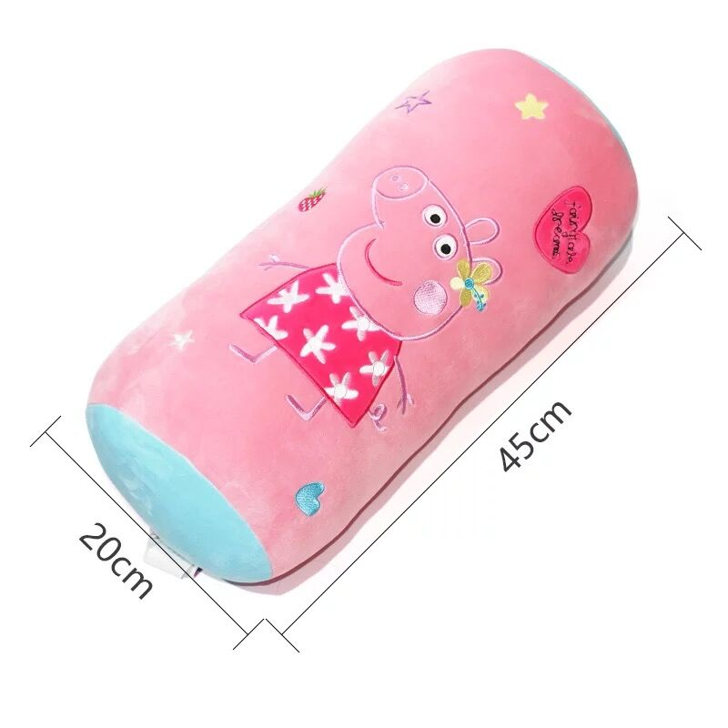 45 20cm Original peppa Pig Cartoon Children 39 s pillow Kids Plush Lovely strip pillow Baby Plush Children Christmas gift toy New in Movies amp TV from Toys amp Hobbies