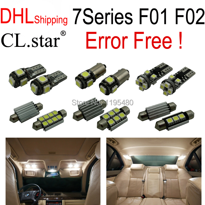 ФОТО DHL shipping 20pc X Perfect Error free LED Interior Light Kit  for bmw 7 series F01 F02 740Li 750Li 760Li (2009+)