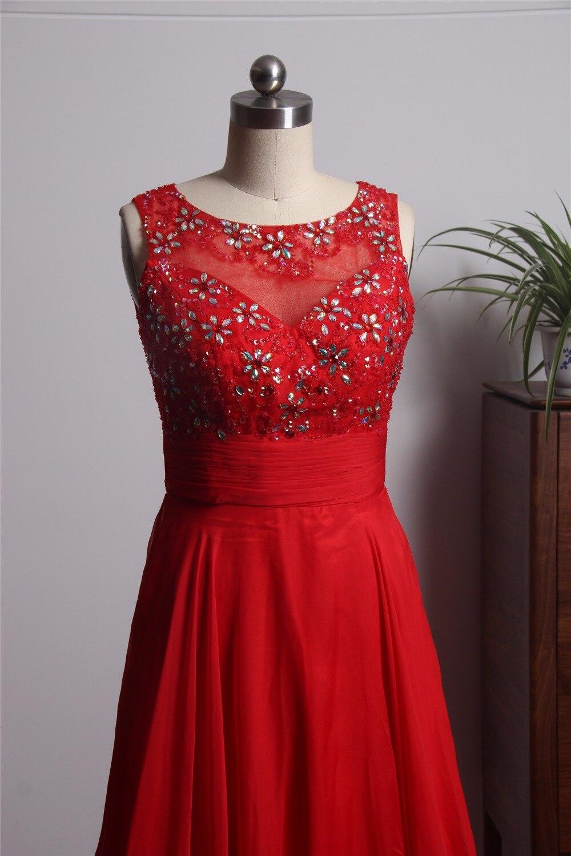 vestido formatura New Elegant Red Prom Dresses Long 2018 Open Back ...