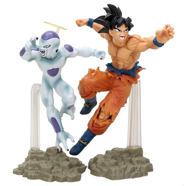 8 ''Dragon Ball Z DBZ Goku VS Tag Lutadores Figura Brinquedos de Ação Freeza Dragon Ball Super Figurals Modelo Crianças bonecas