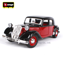 Bburago 1:24 Classic car simulation alloy model crafts decoration collection toy tools gift