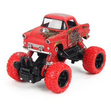 1:36 Mini Alloy Inertia Four Wheel Drive Toy Car for Children Big Wheel Vintage Car Spring Shock Absorber Toy Car for kids