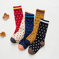 Spring/Autmn/Winter Fashion Baby Cotton Long Socks Kids Boys Girls Dots Socks 1-10years old C913