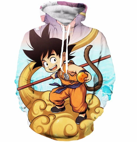 Anime Dragon Ball Z Pocket Hooded Sweatshirts Kid Goku 3D Anime Dragon Ball Z Pocket Hooded Sweatshirts Kid Goku 3D HTB103AMNVXXXXaCXXXXq6xXFXXXi