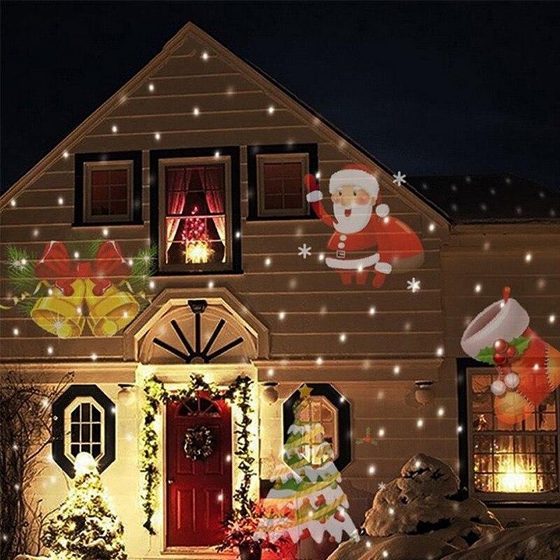 ツ)_/¯12 tipos 6 W Navidad láser de copo de nieve proyector al aire ...