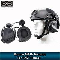 Opsmen Earmor M31H Taktische Schießen Kopfhörer Für Airsoft Schnelle Helm Militär Headset Zubehör-in Taktische Kopfhörer und Zubehör aus Sport und Unterhaltung bei