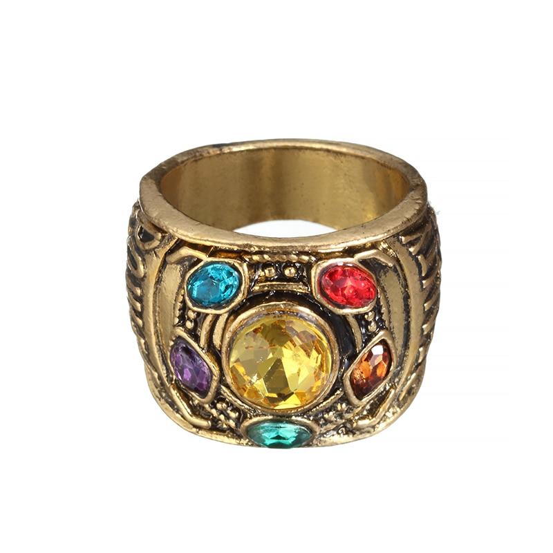 Hochzeits- & Verlobungs-schmuck Edglifu Marvel Avengers Thanos Ringe Gold Unendliche Power Gauntlet Kristall Ring Für Männer Edelstahl Unendlichkeit Krieg Männer Schlüsselring Verlobungsringe