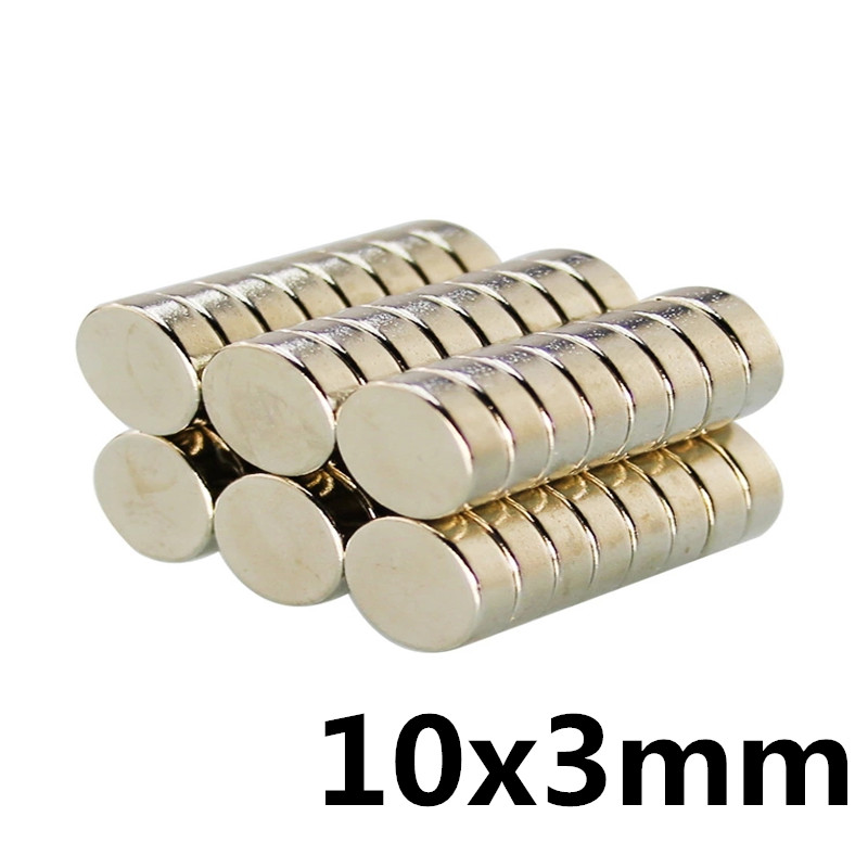 20pcs 10 x 3 mm N50 Super Strong Powerful Small Round Rare Earth Neodymium <font><b>Magnets</b></font> 10 x 3mm image