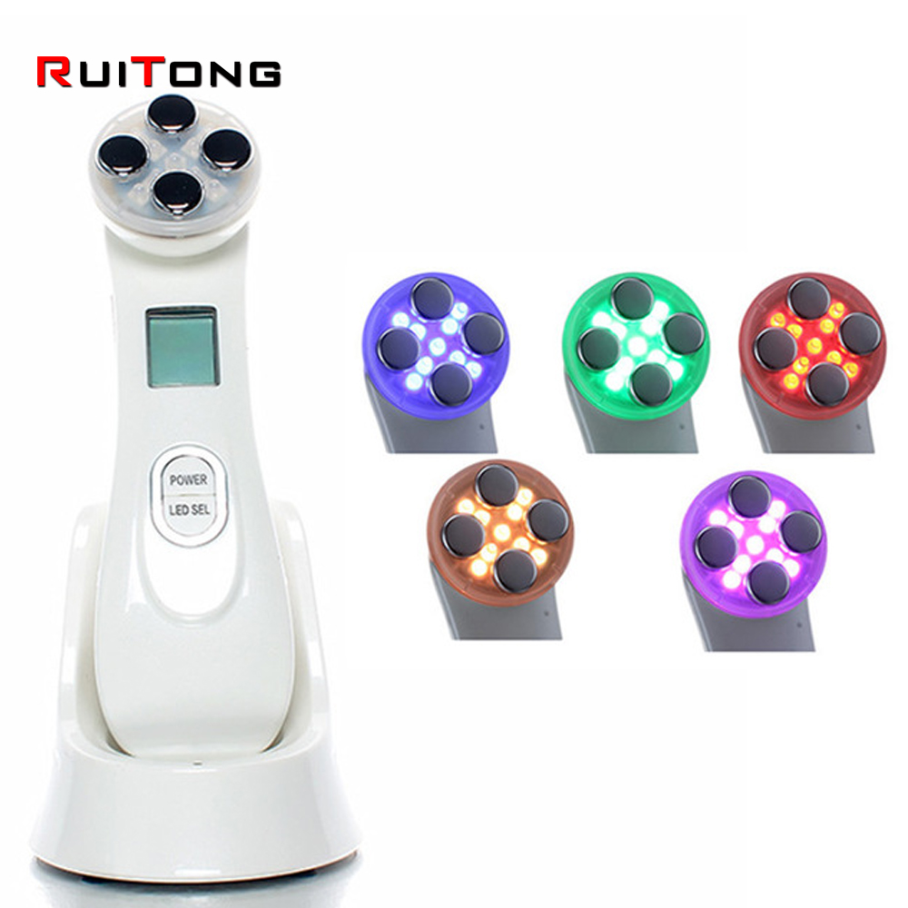 LED Photon Skin Rejuvenation EMS Mesotherapy Electroporation Facial RF Radio Frequency Skin Care Beauty Device Tighten Lifting skin facial ems electroporation led rf skin lifting rejuvenation beauty device skin care beauty instrument 110v