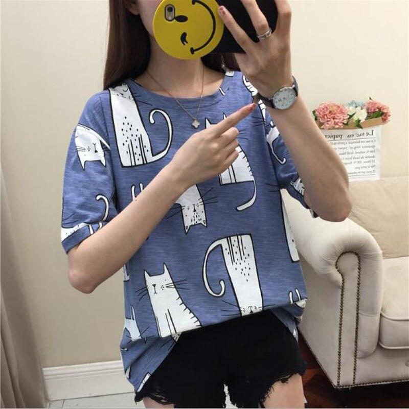 Kawaii Cat Print T- Shirt 4