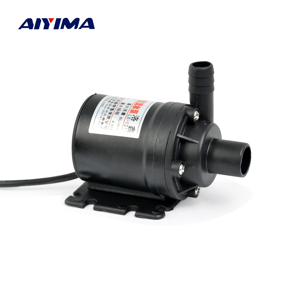Aiyima Water Pumps 12V DC Brushless Micro Submersibles Motor Ultra Quiet Centrifugal Pump Electric Water Circulation Pump fast free ship custom new version sc 300t 12v dc ultra quiet water pump