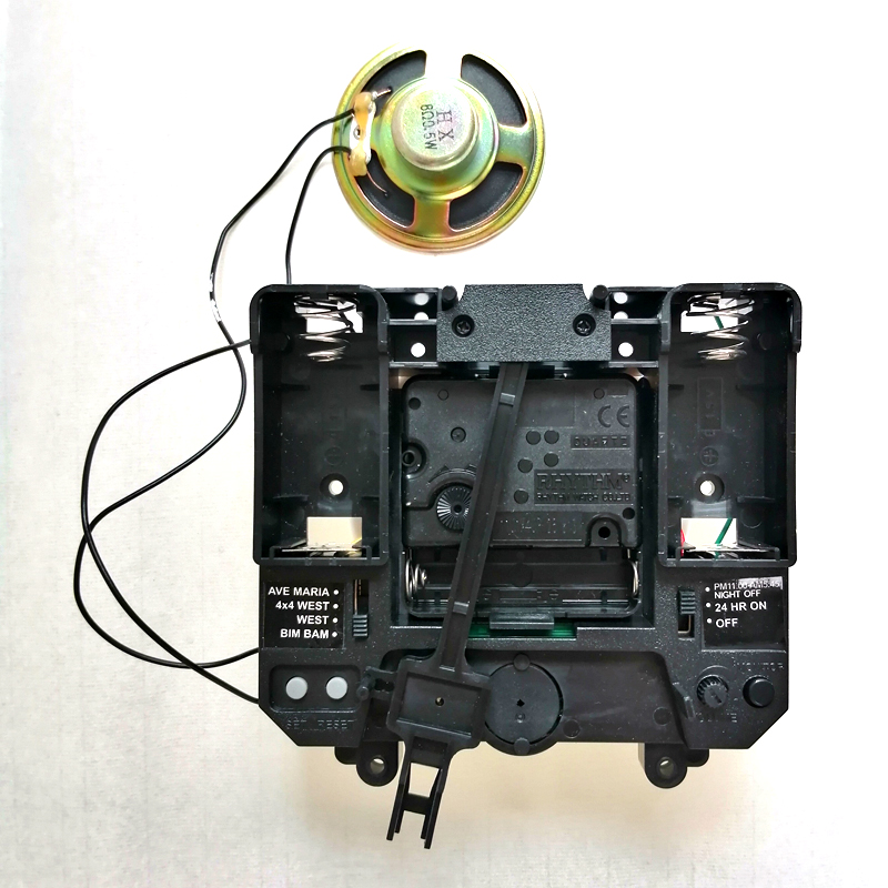 R Step Movement with Music Chime Box Plastic Quartz mechanism with hands & Pendulum drive units DIY Clock Accessory Kits|Clock Parts & Accessories|Home & Garden - title=