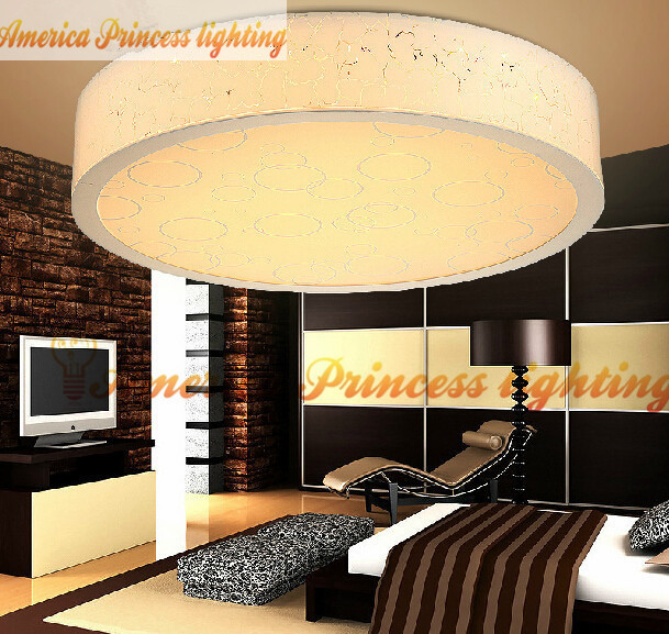 цены  Modern Jane round led ceiling living room lamp bedroom lamp aisle, Material: Acrylic, diameter 30CM / 40CM, AC110-240V