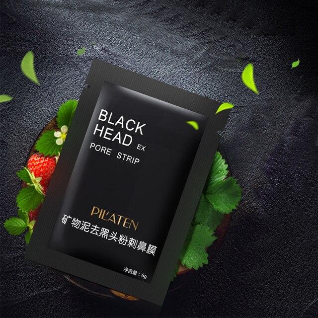 10 bolsas de barro mineral negro Eliminación de la cabeza zona de eliminación de película nasal, protege la Nariz limpia los poros piel delicada, vrentable