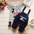 New 2017 summer baby boy clothes cute Mickey T shirt+pant fashion boys clothes set kids baby clothing set