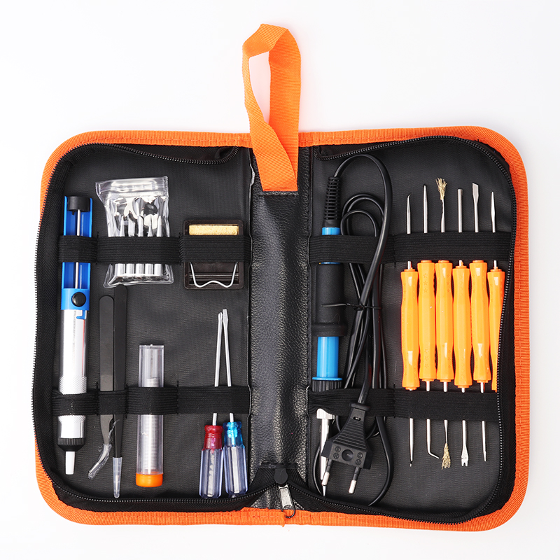 Electric Soldering Iron Adjustable Temperature EU US Regulations Portable Welding Repair Tool Set Solder Station With Iron Tips