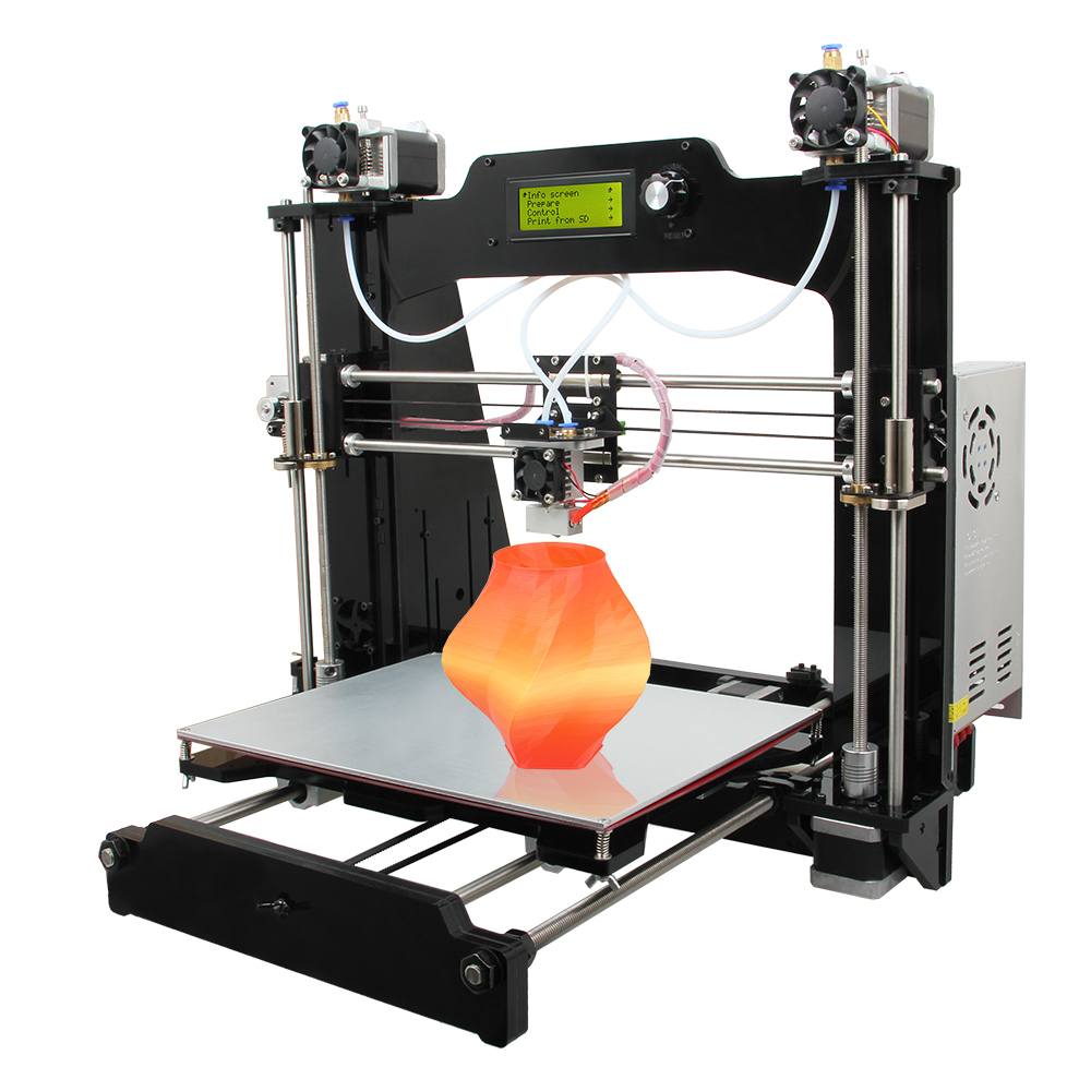 2016 Latest New Tech Prusa I3 M201 2 In 1 Out Hotend Mix
