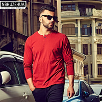 2XL 3XL 4XL 6XL Oversized T Shirt Male 2016 Casual Cotton Long Sleeve Men T Shirt
