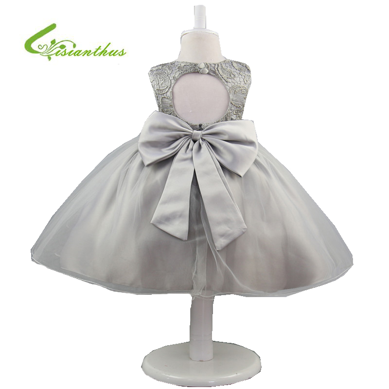 Girl Dress Sleeveless Kid Backless Big Bow Dresses Girls Clothes Tutu Party Princess Birthday Wedding  Dress Children Costume